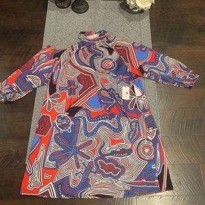 Eloquii Cut Out Print Dress